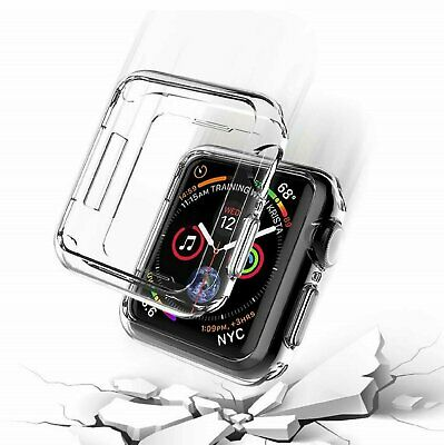 For Apple Watch 5 6 SE Clear Soft TPU Case Cover Screen Protector 44mm 40mm Cases, Covers & Skins