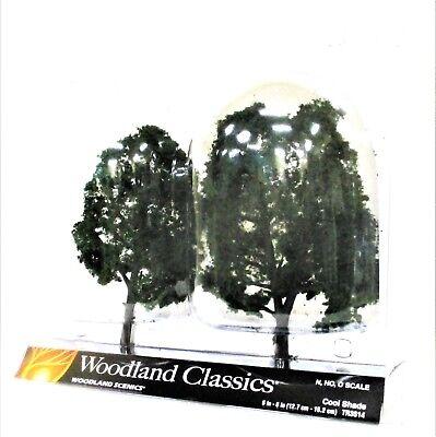 2 Pkg Ready Made - Woodland Classics Ready-Made Trees TR3514 Cool Shade - 2/pkg