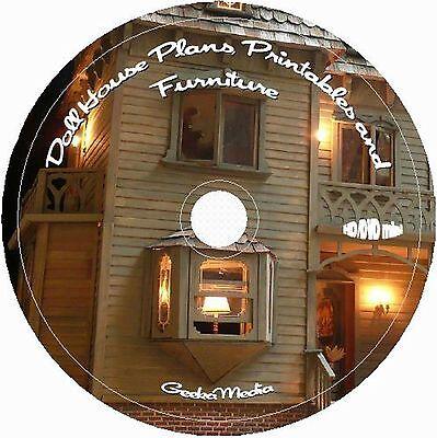 Dollhouse Plans Printables Handmade Furniture Doll Houses Several Scales Vintage