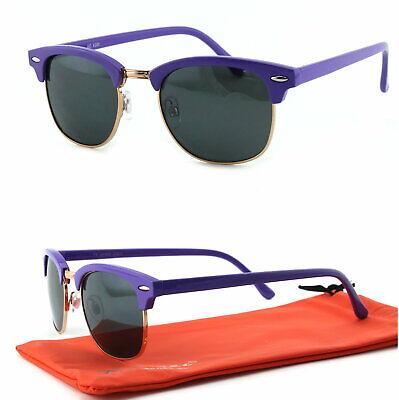 Panto Form Sonnenbrille 50er Jahre Retro Classic Rockabilly Lila Schwarz C3 ()