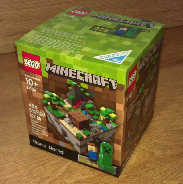 LEGO MINECRAFT MICRO WORLD 21102 new and sealed - BNIB Mine Craft CUUSOO 3 #003