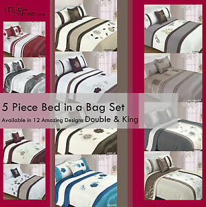 5pc-Bed-in-a-Bag-Bedding-Duvet-Quilt-Cover-Set-in-15-Designs-Double-King-Size