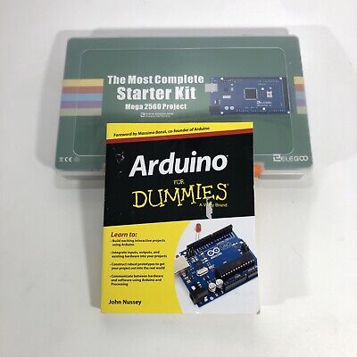 ELEGOO Arduino Mega 2560 Starter Kit w/ Arduino for Dummies, MISSING Breadboard