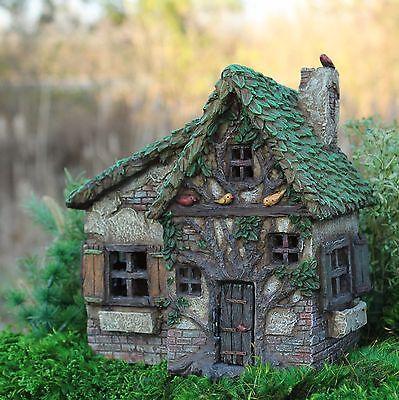 Miniature Woodsy Way w/hinged Door  504  Fairy Garden Dollhouse Terrarium