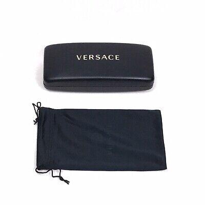VERSACE Hard Sunglasses Eyeglass Case & Pouch Black (Versace Sunglass Case)