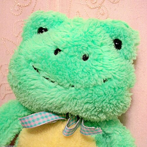 "Meadow Friend Easter 11"" GREEN FROG TOAD Soft Plush Stuffed Animal Toy BOY GIRL"
