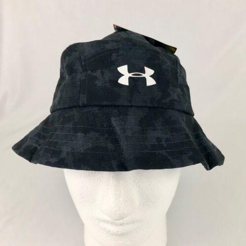 Under Armour Boys Heat Gear Camo Bucket Hat Blue Black OSFA New w Tag
