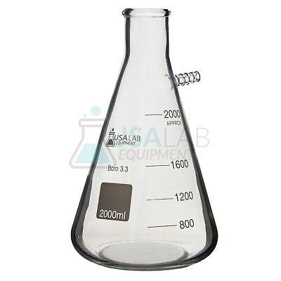 Usa Lab 1l 2l 5l Boro 3.3 Heavy Wall Filter Flask 12 Barb