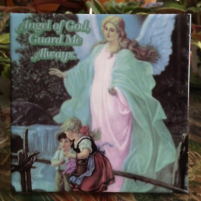 Guardian Angel Square Tile/Easel or Hanging Picture FREE Shipping NEW!