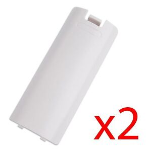 2x White Battery Wireless Controller Back Cover for Nintendo Wii Remote