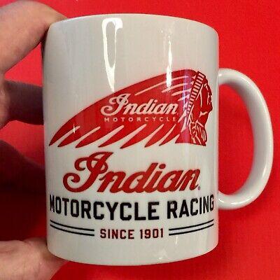 Indian Motorcycle Racing 12oz Ceramic Mug ~ SHIPS FREE!