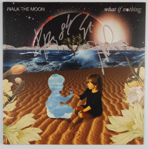 Walk The Moon Full Band What if Nothing Signed Autograph Record Album Vinyl JSA