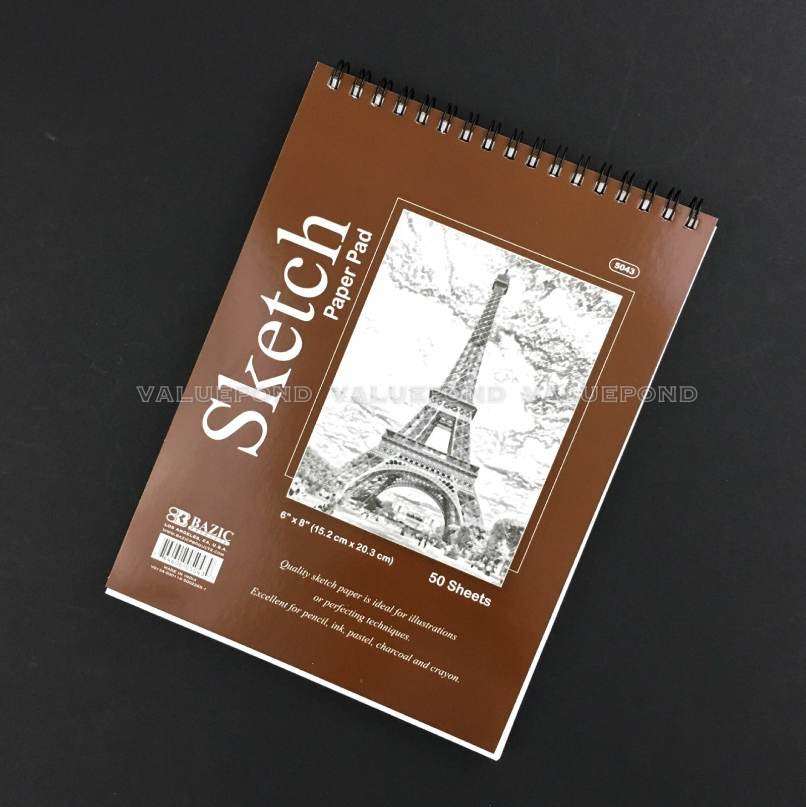 "6"" X 8"" Premium SKETCH BOOK Paper Pad 50 Sheets Quality Top"