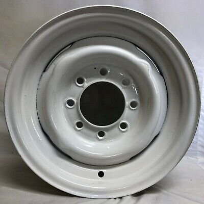 16 Inch 8 Lug Steel Wheel Rim  Fits  GM 2500  1971-87  White 5501T