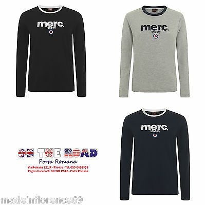 MERC LONDON T SHIRT FIGHT XS M L XL XXL NERO BLU GRIGIO VERDE MANICA LUNGA