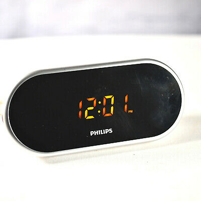Philips AJ1000/37 Digital Alarm Clock Radio w/ Silver Mirror Display