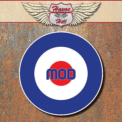MOD Raf Laminated Stickers x2 150mm scooter Vespa motorbike / motorcycle decal