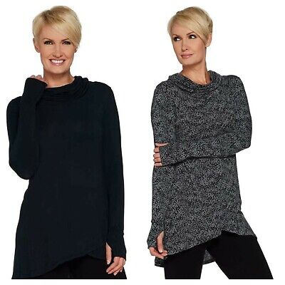 CUDDL  DUDS  SOFTWEAR STRETCH CRISS CROSS ACTIVE GYM TUNIC TOP QVC NEW  $ 35