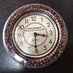 First Time Manufactory Gourmet Coffee Beans Clock.... V99
