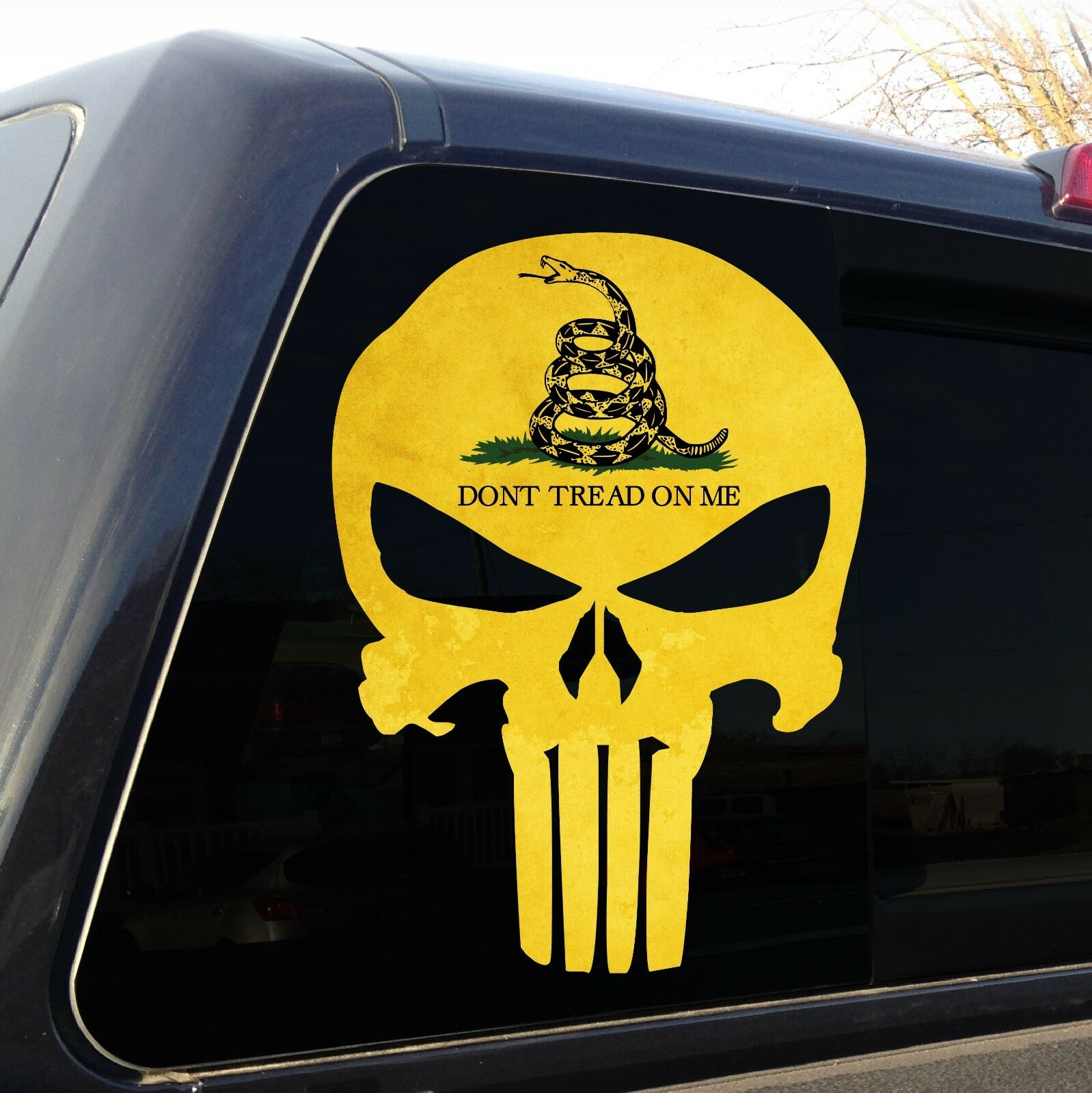 Punisher Skull Gadsden Flag Quot Don T Tread On Me Quot Decal