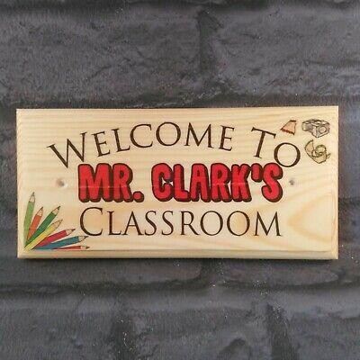 Personalised Classroom Door Sign, Teacher End Of Term Gift Class Plaque Desk - Classroom Door Signs