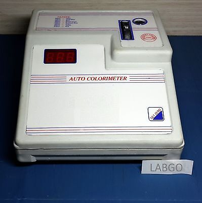 Max Auto Colorimeter 8 Filters % Transmission Optical Density Display