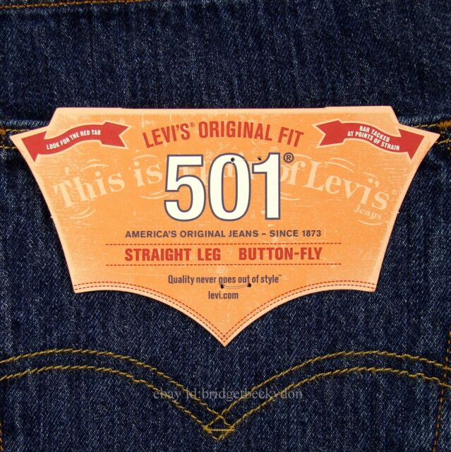 Levis 501 Mens 29 X 32 Jeans Straight Leg Button Fly Dark