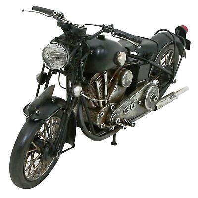 Vintage Hand Painted Motorbike Metal Ornament Decorative Sculpture