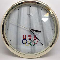 Collectible USA Olympics 10 Wall Clock, Seiko Quartz (RF632)