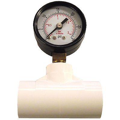 In Line Psi Gauge 12 Pvc Tee Cups Nipple Poultry Chicken Regulator Pressure