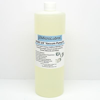 Microlubrol Hivac 19 Hi-perfor Vacuum Pump Oil 1 Quart For Welch Alcatel Edwards