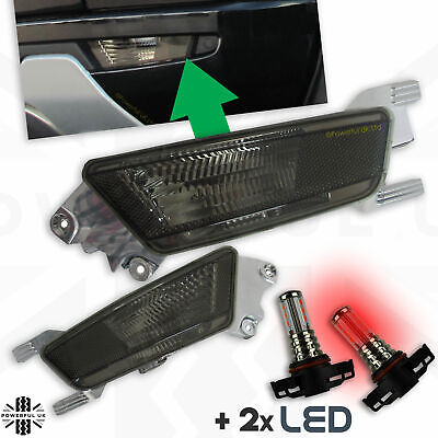 Smoked tinted black Rear bumper fog lamp kit- Pure Prestige Dynamic with RED LED