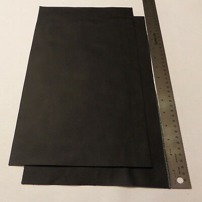 Upholstery Leather Scrap 9 x 15 inches Black 1 Piece ()