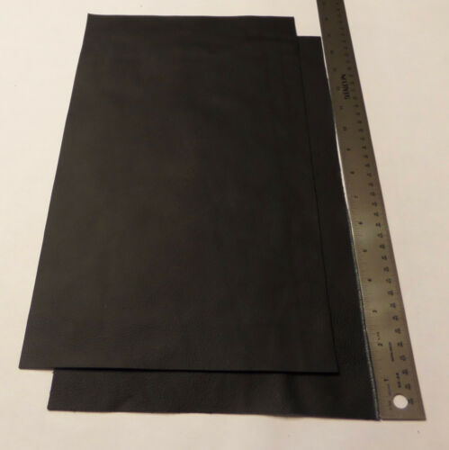 Upholstery Leather Scrap Crafts 9 x 15 inches Black 1 Piece