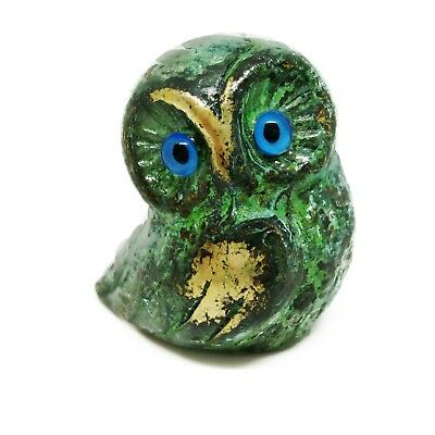 Ancient Greek Bronze Museum Statue Replica of Owl Symbol Athena Goddness - Greek Goddness