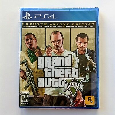 Grand Theft Auto V _GTA 5 + Premium Online Content (PS4)  *BRAND NEW*