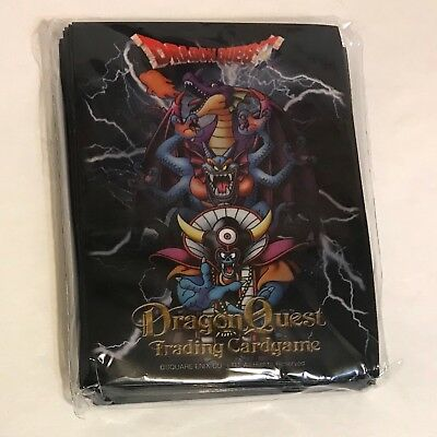 Trading Card Set Sleeves - Square Enix Dragon Quest Trading Game Card Plastic Sleeve Holders, 46 in Set