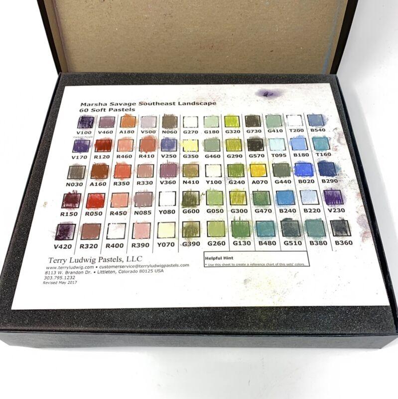 Terry Ludwig Soft Pastel Set 60 Colors Marsha Savage Southeast Landscape $340