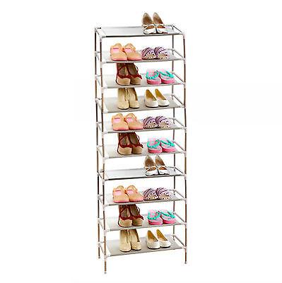 10 Tier 30 Pairs Adjustable Shoe Storage Shoe Rack Organiser Shelf Easy Assemble