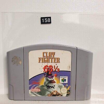 Clay Fighter 63 1/3 Nintendo 64 N64 Game Cartridge PAL seller Oz158