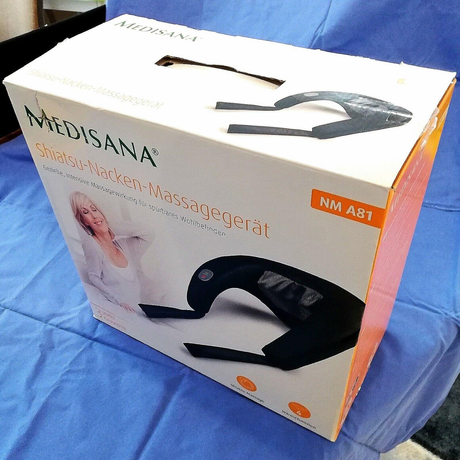 Shiatsu Nackenmassagegerät Medisana NM A81 neuwertig