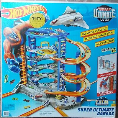 NEW Hot Wheels Super Ultimate Motorized Garage 3 Ft Tall ~ Park 140+ Cars FML03