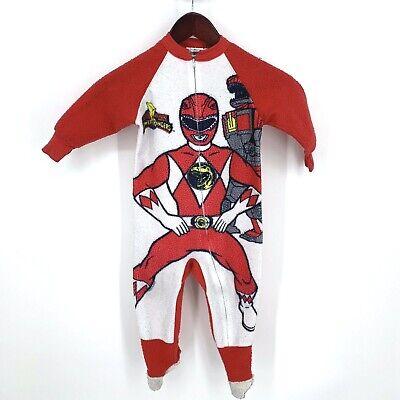 Red Power Ranger Pajamas (Vintage Power Rangers Pajamas Red Ranger One Piece Kids Size 4 Full Zip)
