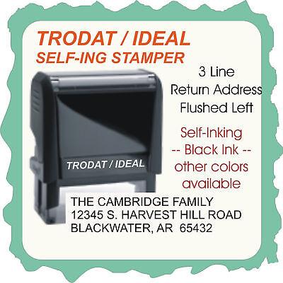 Self-ink Custom Business Return Address Self Ink Stamp Trodat 4913 3 To 4 Line