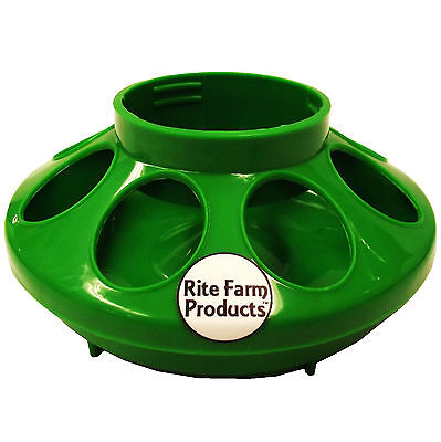 Green Rite Farm Products Feeder Base For Polyglass Quart Jar Poultry Chicken