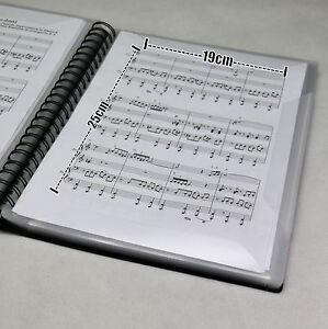 Notenmappe für 60 x A4 Musiknoten blendfreie Fenster Gesangsmappe Notentasche