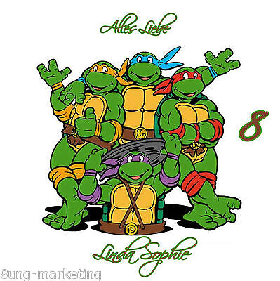 ortenaufleger NinjaTurtles  Fototorte Zuckerbild Geburtstag  (Geburtstag Ninja Turtles)
