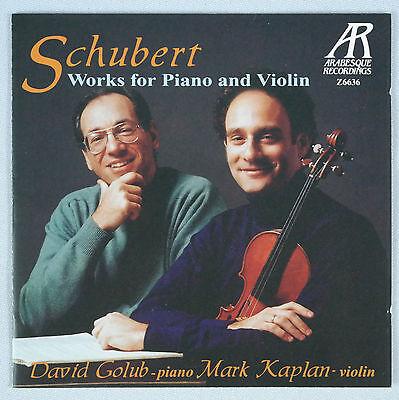 Schubert  Works For Piano   Violin David Golub   Mark Kaplan 1993 Arabesque