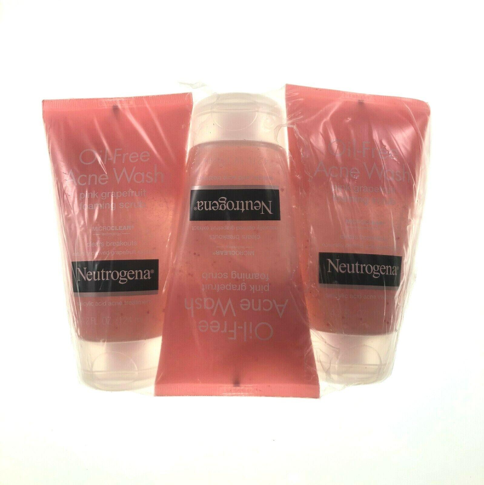 Oil Free Acne Wash Pink Grapefruit Foaming Scrub By Neutroge