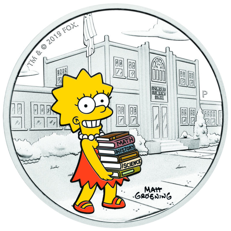 2019 The Simpsons LISA Simpson Proof $1 1oz Silver COIN NGC PF 70 FR PF70